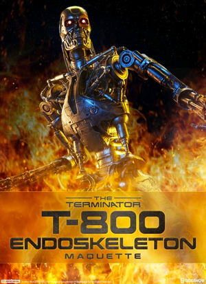 Terminator Sideshow Collectibles T-800 Endoskeleton Maquette Statue