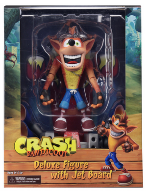 Crash Bandicoot Neca Crash w/ Hoverboard 7 Inch Deluxe Action Figure