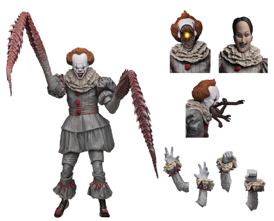 IT Neca Ultimate Pennywise Dancing Clown 2017 Action Figure