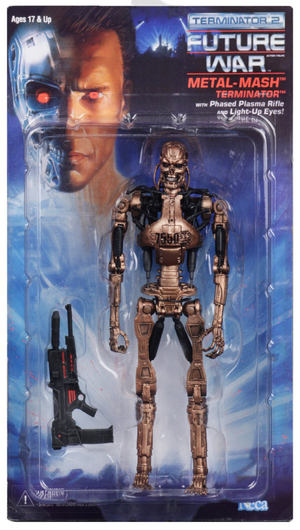 Terminator Neca T2 Metal Mash Endoskeleton Kenner Tribute Action Figure