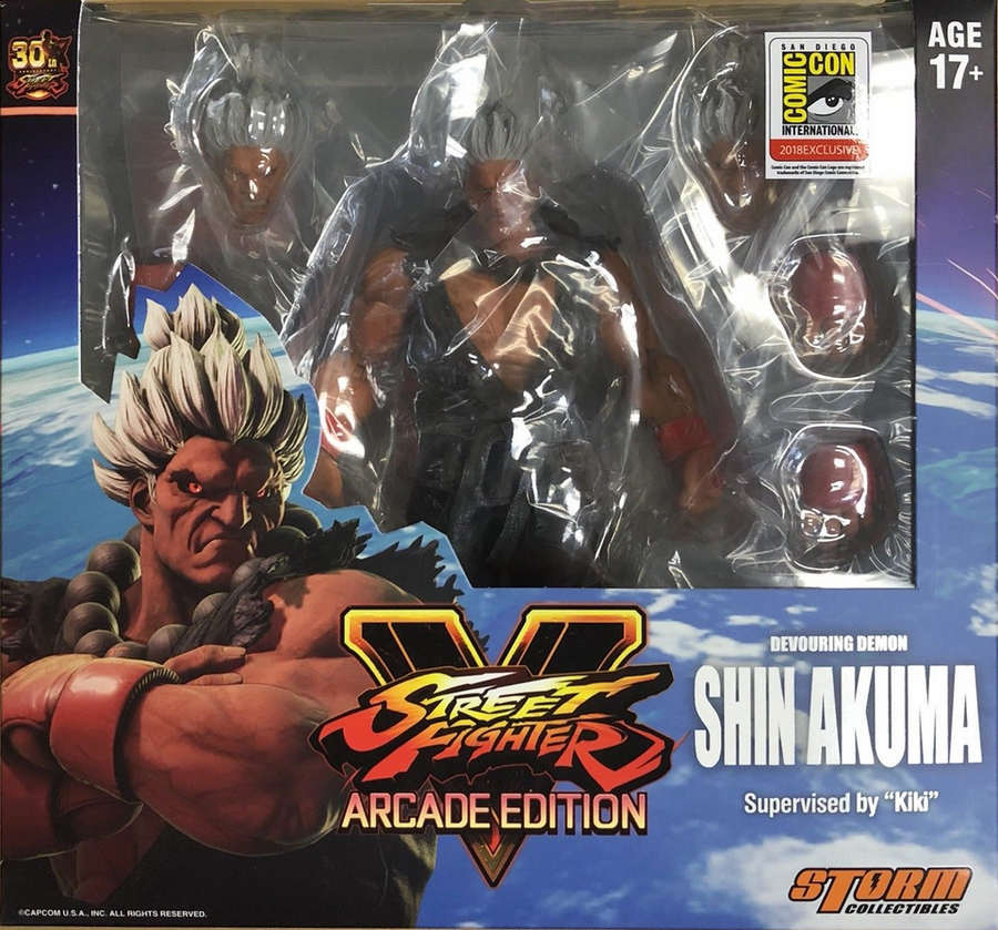 Street Fighter V Storm Collectibles SDCC Exclusive Shin Akuma 1:12 Action Figure