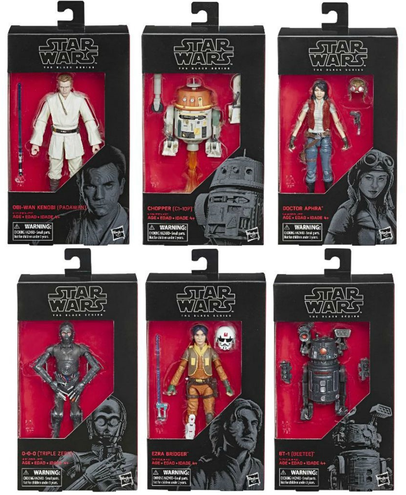 Star Wars Black Series Wave 21 Set of Six Action Figures