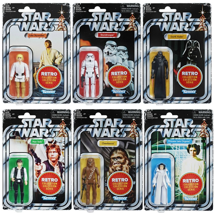 Star Wars The Retro Collection Wave 1 Action Figure Set Of 6