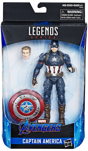 Marvel Legends Exclusive Captain America w/ Mjolnir Hammer Action Figure