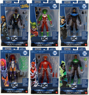 DC Multiverse Wave 11 Click N Collect Ninja Batman Set Of Six Action Figures