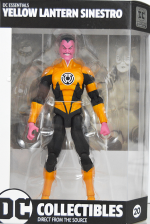 DC Essentials Yellow Lantern Sinestro Action Figure