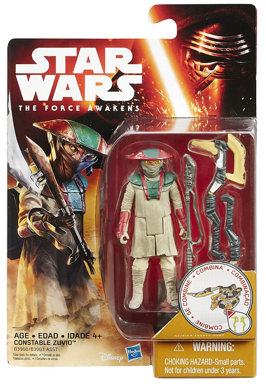Star Wars Force Awakens Constable Zuvio 3.75 Inch Action Figure