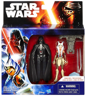 Star Wars The Force Awakens Darth Vader & Ahsoka Tano 2-Pack 3.75 Inch Figure