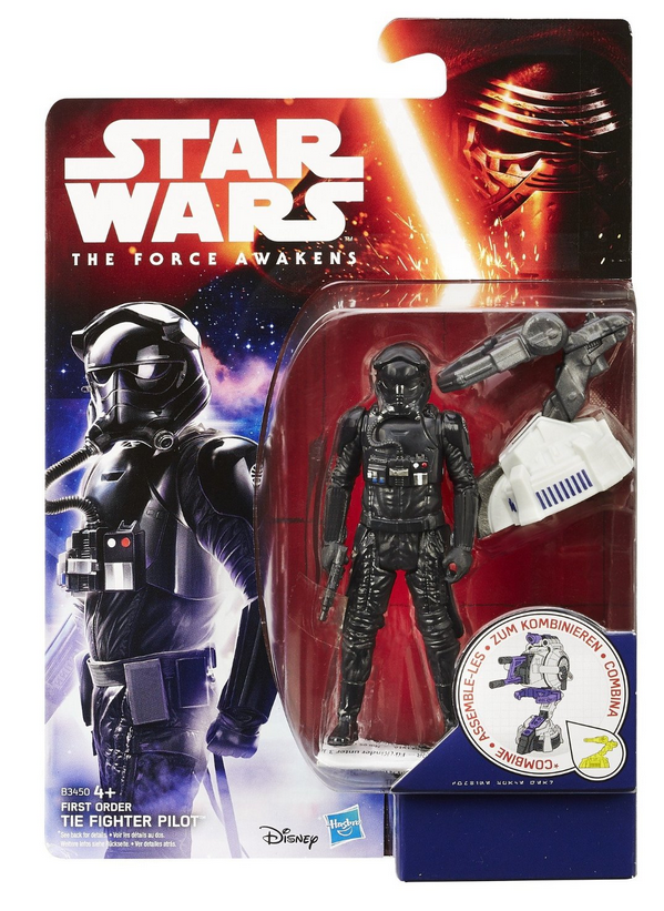 Star Wars Force Awakens First Order Tie Pilot 3.75 Inch Action Figure