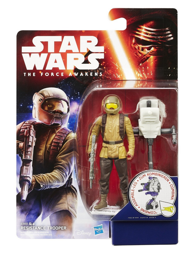 Star Wars Force Awakens Resistance Trooper 3.75 Inch Action Figure