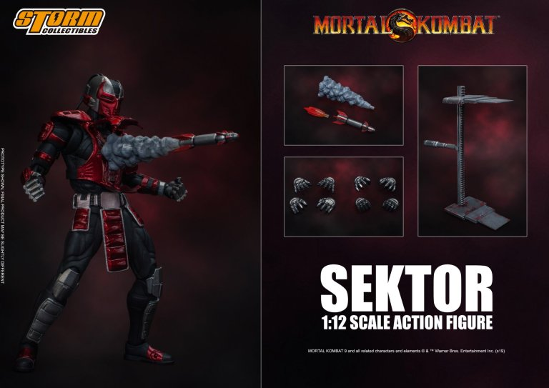 Mortal Kombat Storm Collectibles Sektor 1:12 Scale Action Figure Pre-Order