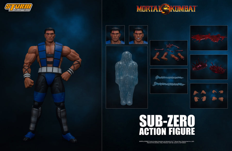Mortal Kombat Storm Collectibles Sub-Zero Unmasked 1:12 Scale Action Figure Pre-Order