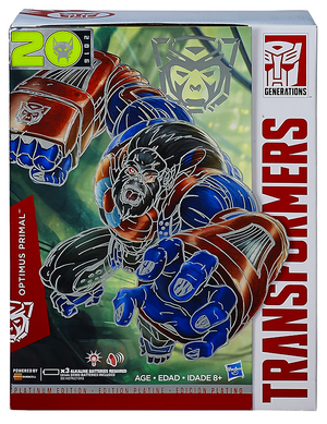 Transformers Generations Leader Optimus Primal 2016 Platnum Edition Year Of The Monkey