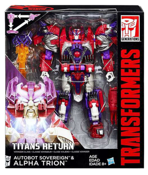 Transformers Titans Return Voyager Class Alpha Trion Action Figure