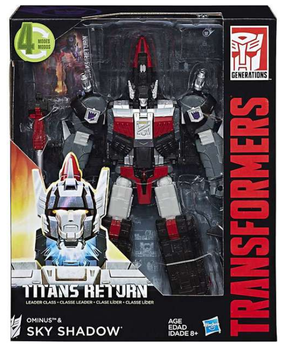Transformers Titans Return Leader Class Decepticon Ominus & Sky Shadow