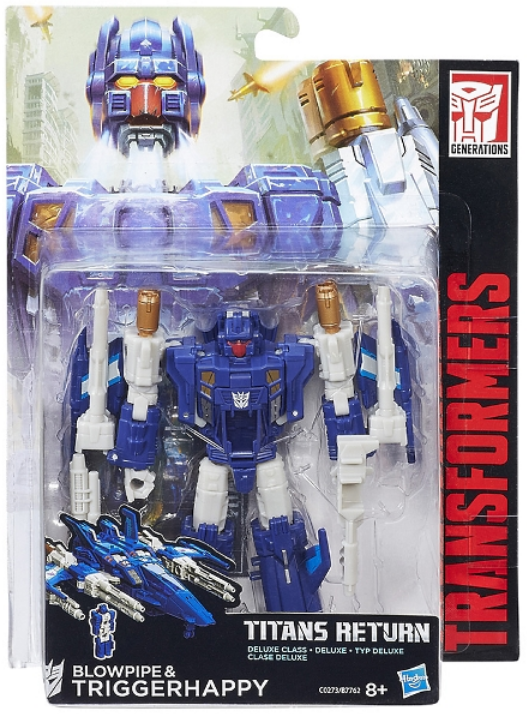 Transformers Titans Return Deluxe Class Decepticon Blowpipe & Triggerhappy