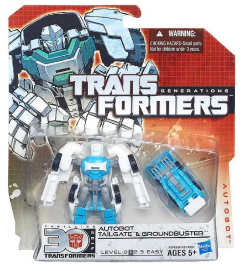 Transformers 30th Anniversary Voyager Autobot Tailgate & Groundbuster Action Figure