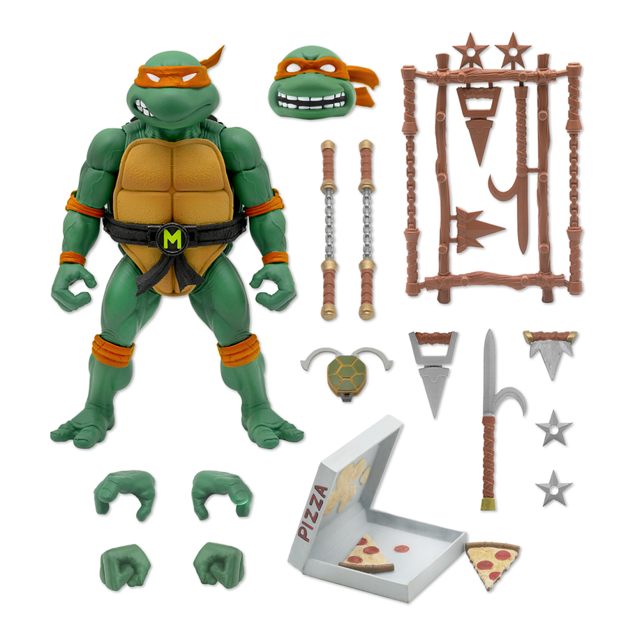Teenage Mutant Ninja Turtles Super7 Ultimates Michaelangelo Action Figure Pre-Order