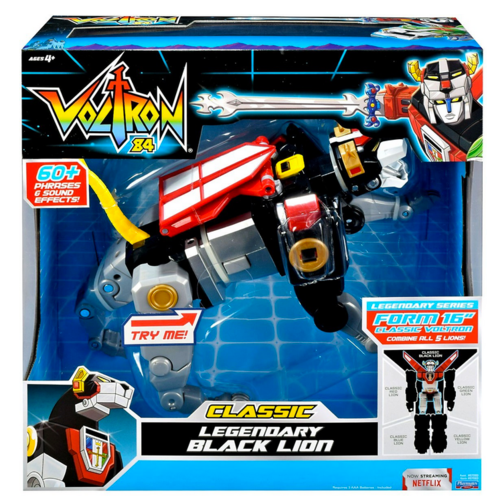 Voltron Netflix Classic '84 Voltron Legendary Defender Lions Set Of Five Action Figure