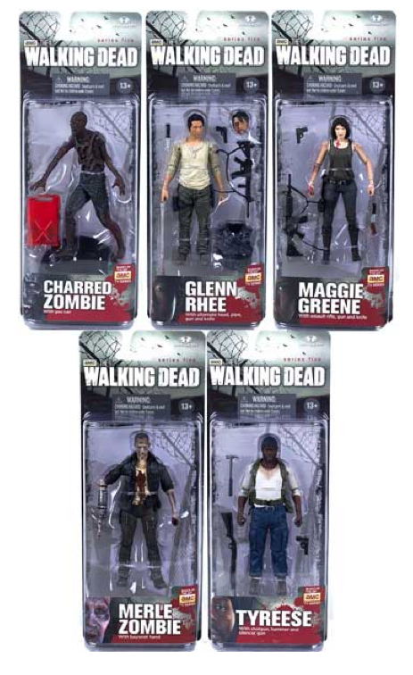The Walking Dead Tv Series 5 Complete Set Of 5