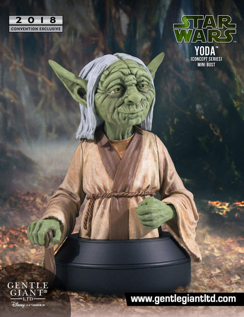 Star Wars Gentle Giant Mini Bust SDCC Exclusive Yoda Concept Series Pre-Order