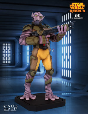 Star Wars Gentle Giant Collectors Gallery Rebels Zeb Orrelios Maquette Statue