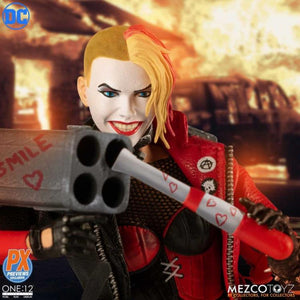 DC Mezco PX Previews Exclusive Harley Quinn Playing For Keeps One:12 Scale Action Figure Pre-Order
