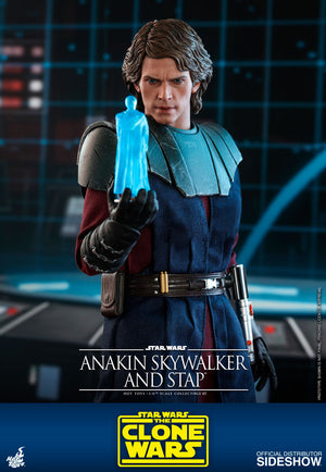 Star Wars Hot Toys The Clone Wars Anakin Skywalker & Stap 1:6 Scale Action Figure TMS020 Pre-Order