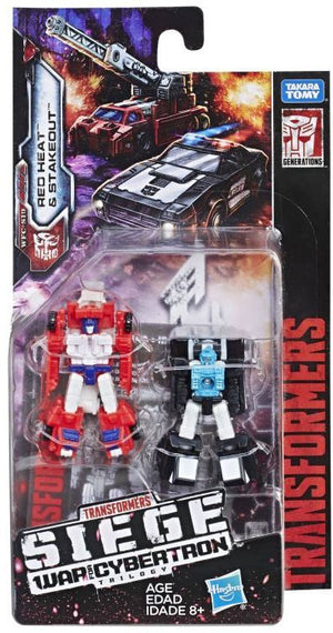 Transformers Siege War For Cybertron Micromaster Red Heat & Stakeout