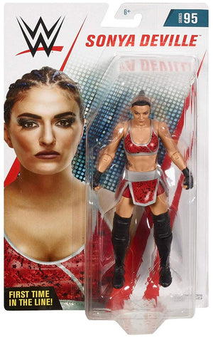 WWE Wrestling Basic Series #95 Sonia Deville Red Attire Action Figure