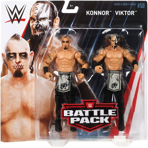WWE Wrestling Basic Series #50 Konnor & Viktor Action Figure 2 Pack