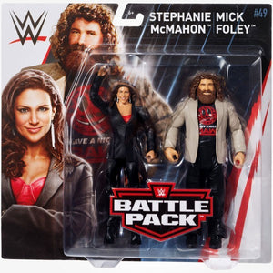WWE Wrestling Basic Series #49 Stephanie McMahon & Mick Foley Action Figure 2 Pack