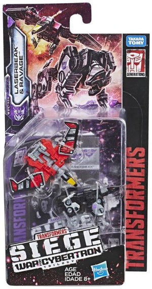 Transformers Siege War For Cybertron Micromaster Ravage & Laserbeak