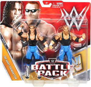 WWE Wrestling Basic Series #47 The Hart Foundation Action Figure 2 Pack