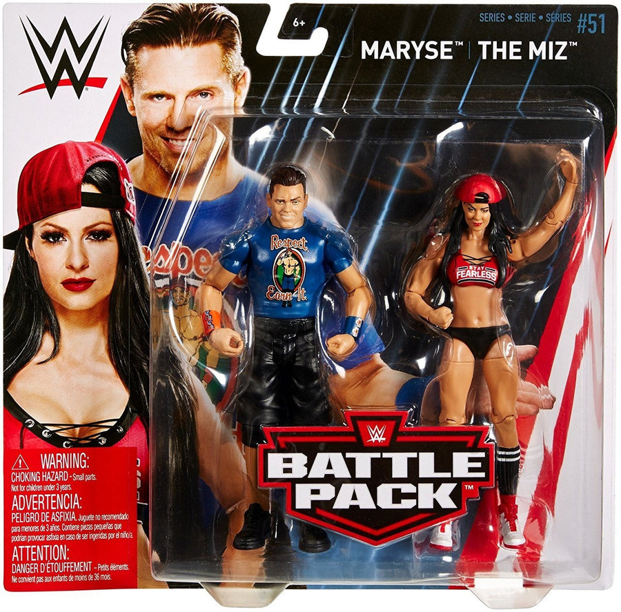 WWE Wrestling Basic Series #51 Maryse & The Miz Action Figure 2 Pack