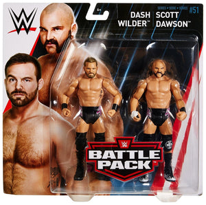 WWE Wrestling Basic Series #51 Dash Wilder & Scott Dawson Action Figure 2 Pack