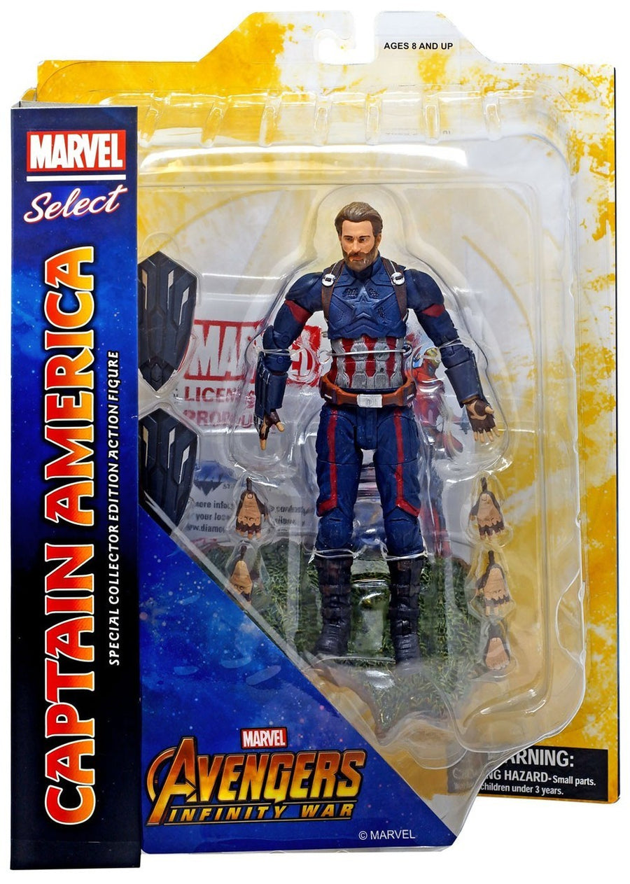 Marvel Diamond Select Infinity War Captain America Action Figure