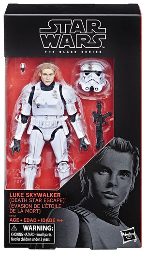 Star Wars Black Series Exclusive Luke Skywalker Death Star Escape Stormtrooper Action Figure
