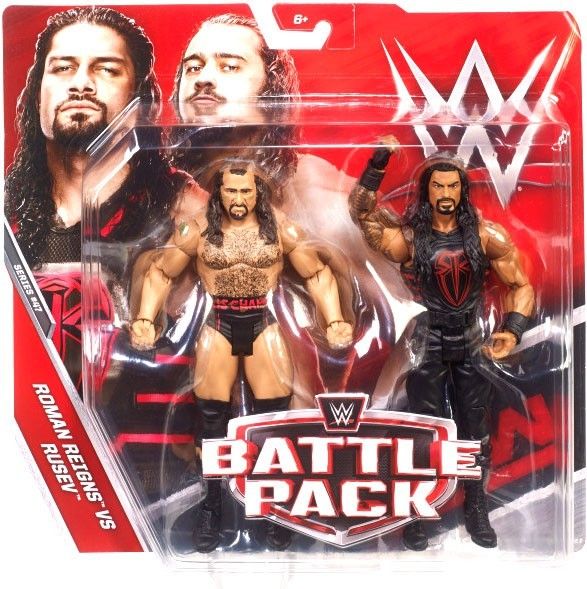 WWE Wrestling Basic Series #47 Roman Reigns & Rusev Action Figure 2 Pack