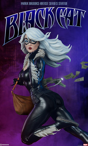 Marvel Sideshow Collectibles Spider-Man Black Cat Cafe Noir Artist Statue