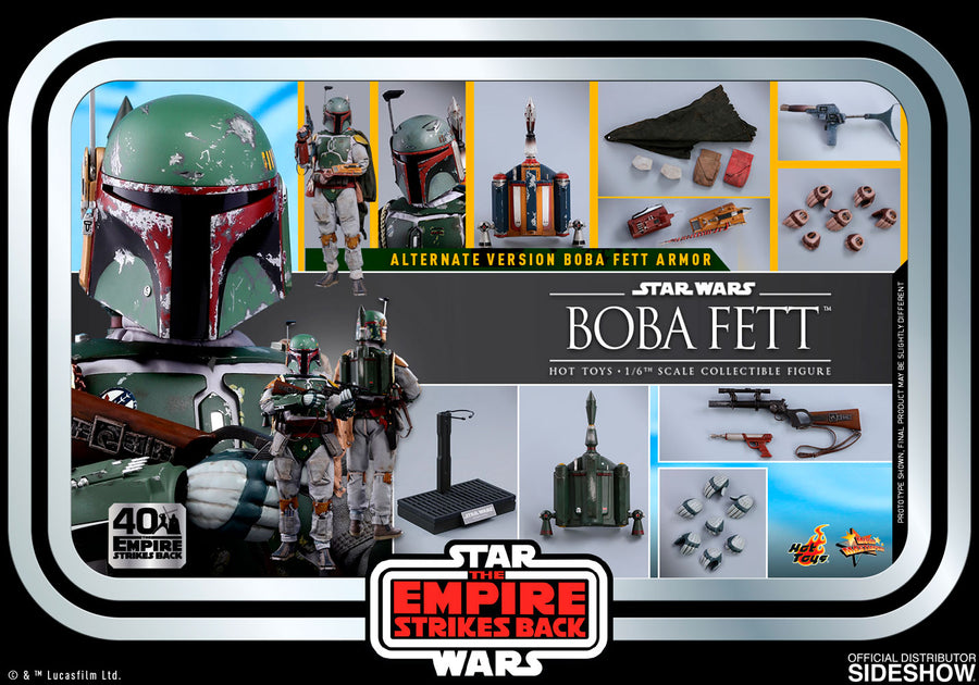 Star Wars Hot Toys Empire Strikes Back 40th Anniversary Boba Fett 1:6 Scale Action Figure MMS574 Pre-Order
