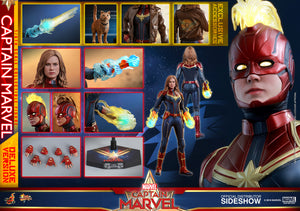Marvel Hot Toys Captain Marvel Deluxe 1:6 Scale Action Figure MMS522 Pre-Order
