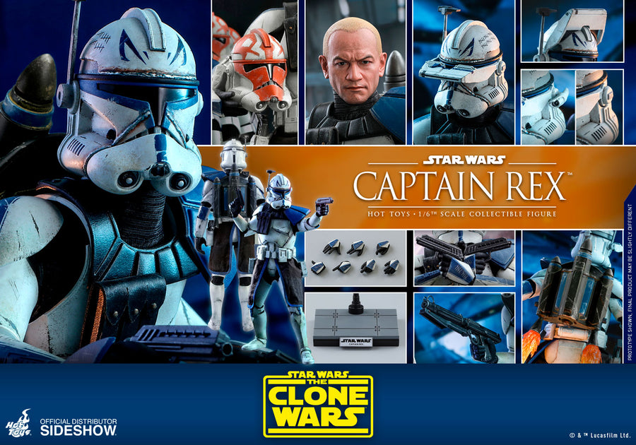 Star Wars Hot Toys The Clone Wars Captain Rex 1:6 Scale Action Figure TMS018 Pre-Order