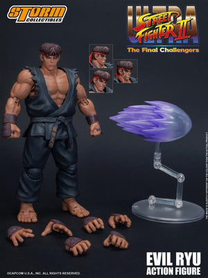 Street Fighter II Storm Collectibles Evil Ryu Final Challengers 1:12 Action Figure