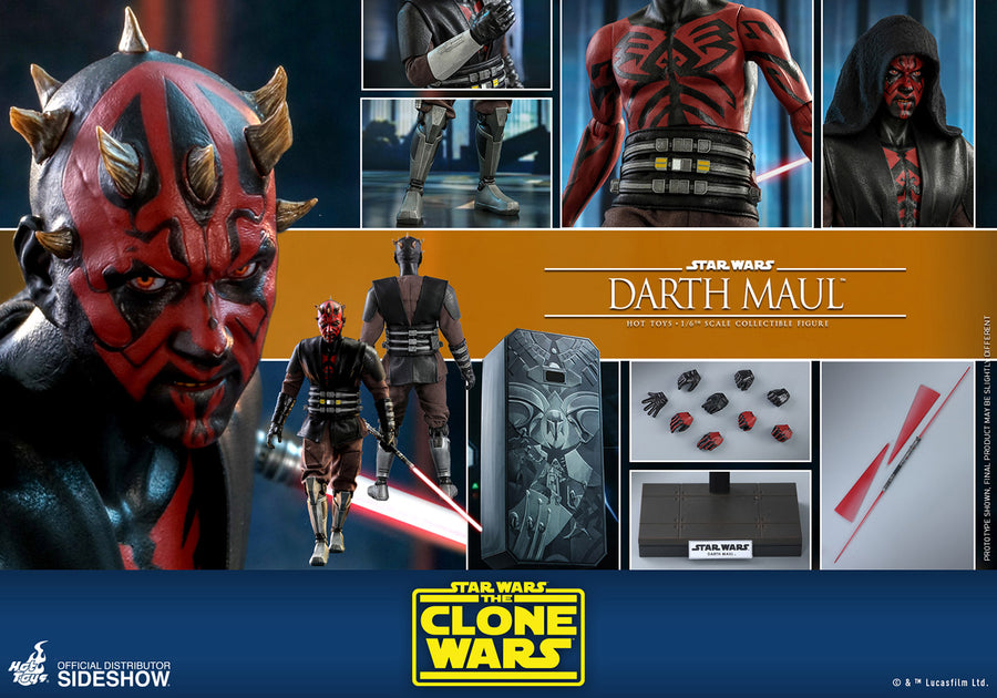 Star Wars Hot Toys The Clone Wars Darth Maul 1:6 Scale Action Figure TMS024 Pre-Order
