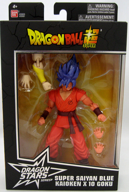 DragonBall Super Bandai Dragon Stars Series Super Saiyan Blue Kaioken X10 Goku Action Figure #4 - Action Figure Warehouse Australia | Comic Collectables
