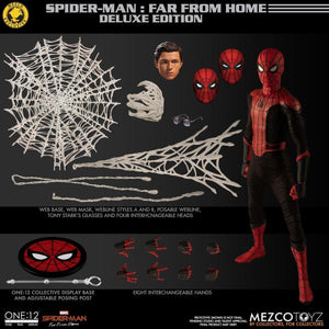 Marvel Mezco Exclusive Far From Home Spider-Man Deluxe One:12 Scale Action Figure