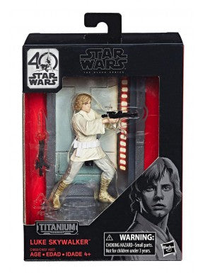 Star Wars Titanium Series 40th Anniversary Wave 1 Luke Skywalker Action Figure