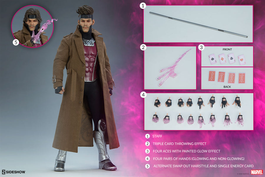 Marvel Sideshow Collectibles X-Men Gambit 1:6 Scale Action Figure Pre-Order