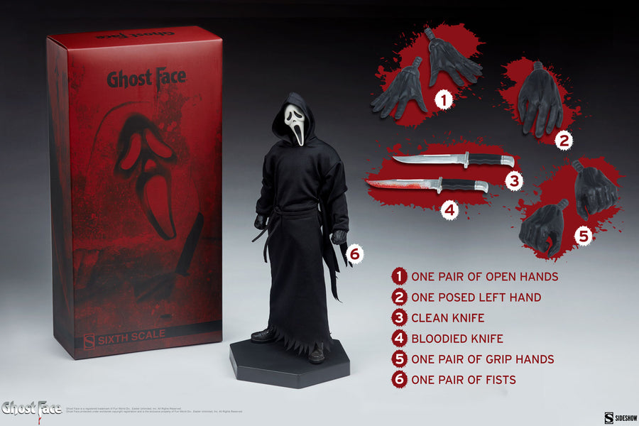 Scream Sideshow Collectibles Ghostface 1:6 Scale Action Figure